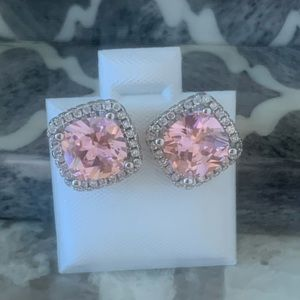 Pink Sapphire Earrings